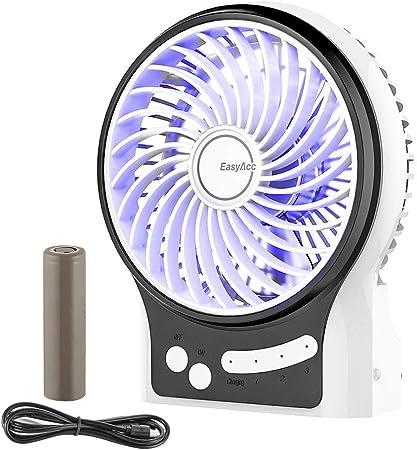 3 livelli di velocit/à passeggino con batteria ricaricabile Vivibel Mini ventilatore USB a clip rotazione a 360/° portatile campeggio nero Nero silenzioso per auto camera da letto