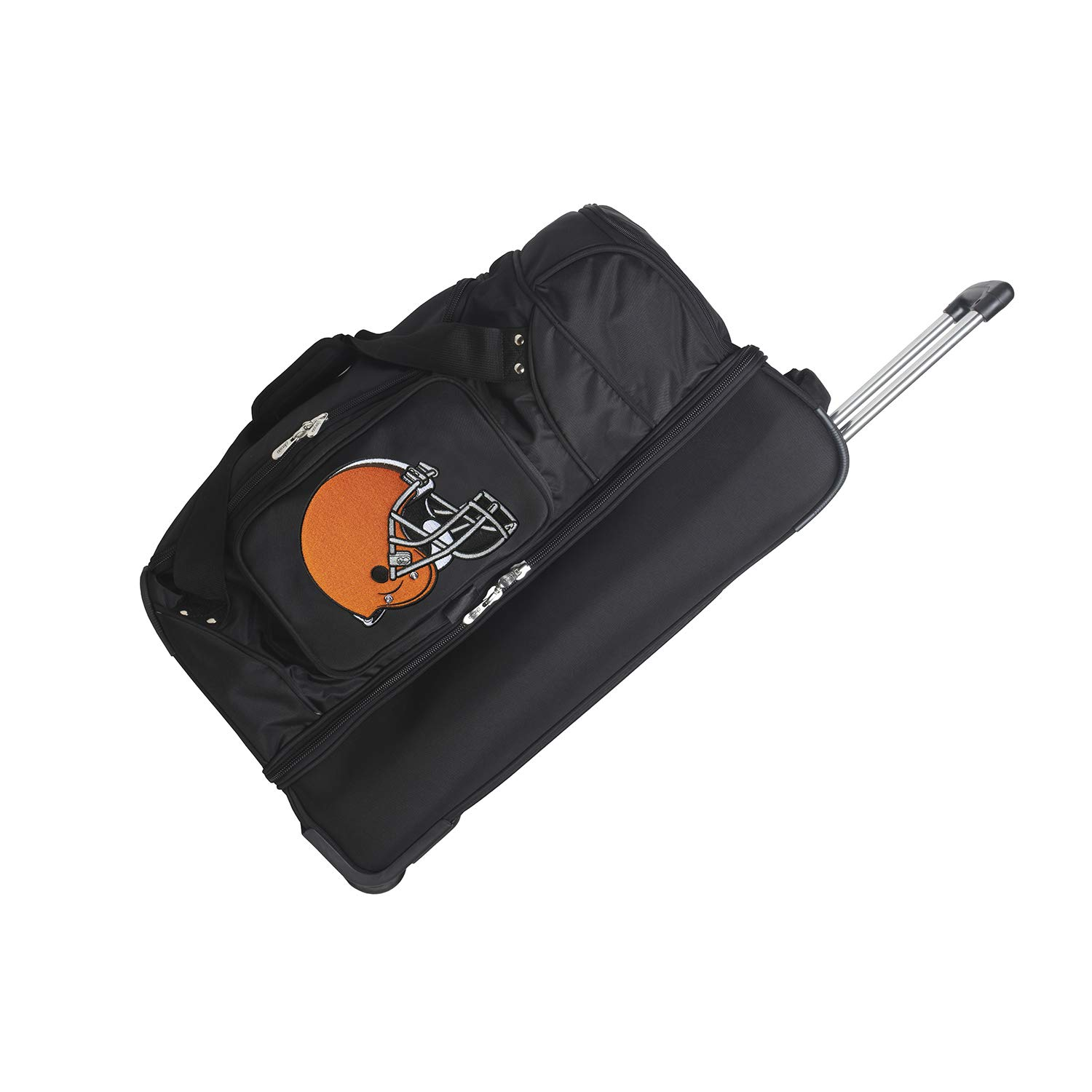 NFL Cleveland Browns Rolling Drop-Bottom Duffel Bag, 27-inches