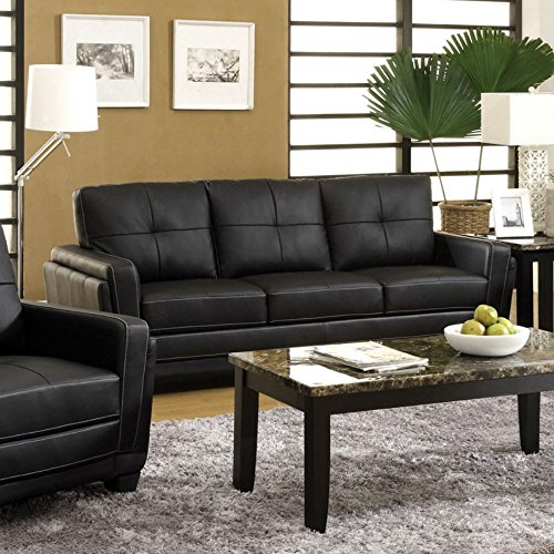 Furniture of America Silverdale Leatherette Sofa –