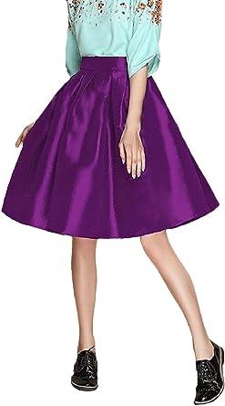 Faldas Mujer Elegantes Faldas Largas Fiesta Swing Plisada Años 50 ...