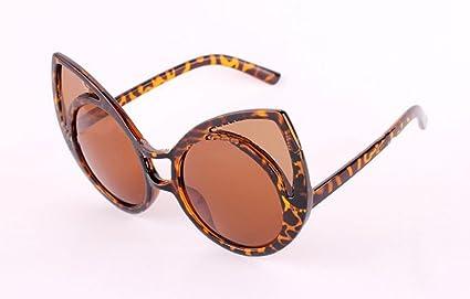 Z&YQ Sra. De la moda gafas de sol de corte de metal lente ...