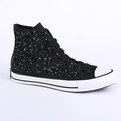 e5aa9006a72c Converse Chuck Taylor All Star Rhinestone Hi 540230C Womens Laced Canvas  Trainers Black - 7  Amazon.co.uk  Shoes   Bags