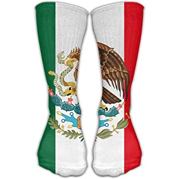 Yuerb Calcetines Altos Casual Mexico Flag Novelty Crew Ankle Dress Fits Shoe High Knee Sock Sports