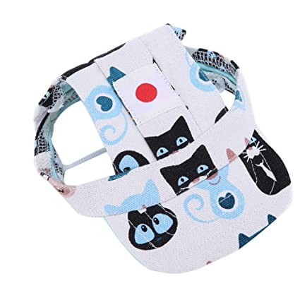 3e726e68d7c Adarl World Cup Pet Baseball Cap Dogs Sport Hat Dog Visor Cap with Ear  Holes for