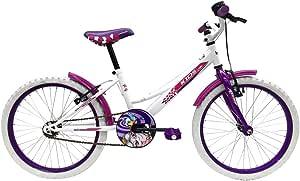 Esmaltina 2665403031 - Bicicleta Juvenil niña indur 20: Amazon.es ...