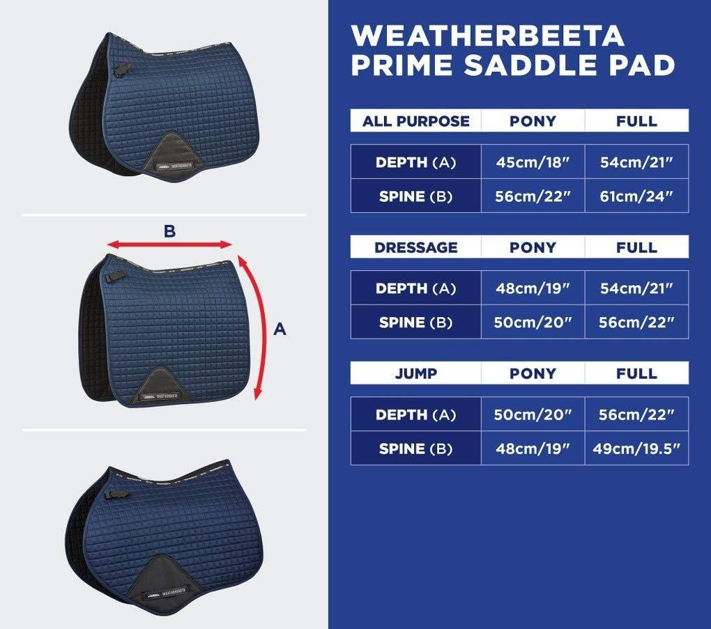 Navy Weatherbeeta Prime Dressur Sattelkissen 1000745