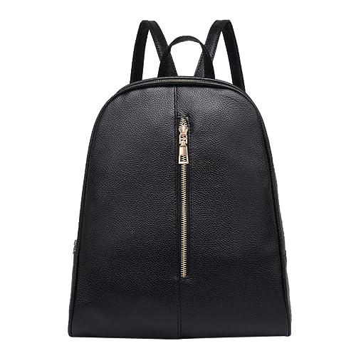 bad0d70398f4e VENMO Damenmode PU Leder Rucksack Weibliche Zipper Schultasche Rucksack  Casual Schulrucksack Schultertasche Causal Freizeitrucksack Backpack für