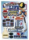 KAREN FOSTER Cardstock Stickers, Hockey 4 Life