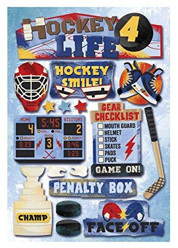 - KAREN FOSTER Cardstock Stickers, Hockey 4 Life,