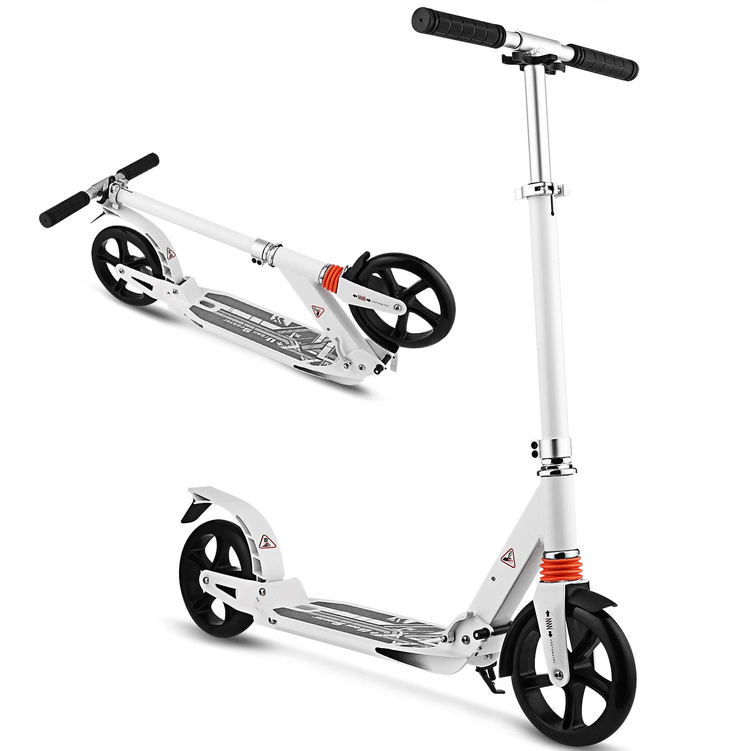 WeSkate Scooter for Adults/Teens, Big Wheels Scooter Easy Folding Kick Scooter Durable Push Scooter Support 220lbs Suitable for Age 12 Up Teens/Adults by WeSkate