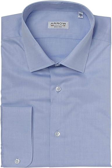 Arrow - Camisa de manga corta (efecto satinado), color azul ...