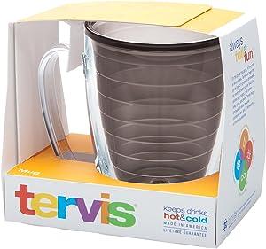 Tervis Clear & Colorful Mug Insulated Tumbler, 16 oz Tritan, Quartz