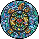 Stained Glass Turtle Spare Tire Cover for Jeep RV and mor...