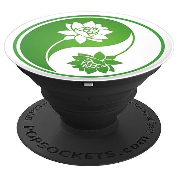 Amazoncom Stem Lotus Flower Yin Yang Green And White On White