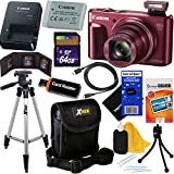 Canon PowerShot SX720 HS 20.3 MP Wi-Fi Digital Camera with 40x Zoom & HD 1080p video (Red) + 12pc 64GB Deluxe Accessory Kit w/ HeroFiber Gentle Cleaning Cloth