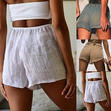 Vectry Pantalon Ancho Mujer Pantalones Deportivos Cortos ...
