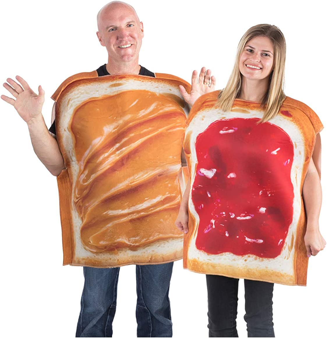 Tigerdoe Peanut Butter & Jelly Costume Set - Couples Costumes - Food Costumes - Costumes for Adults - 2 Pk
