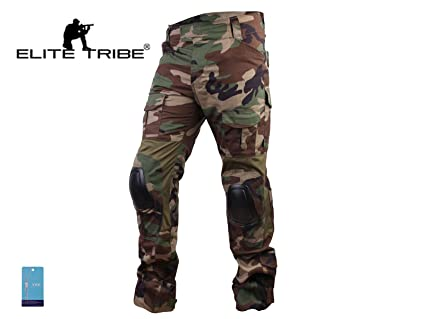 aa40b4be7ad76 Men Airsoft Hunting Combat bdu Pants Gen3 Tactical Pants with Knee Pad  Woodland (S(