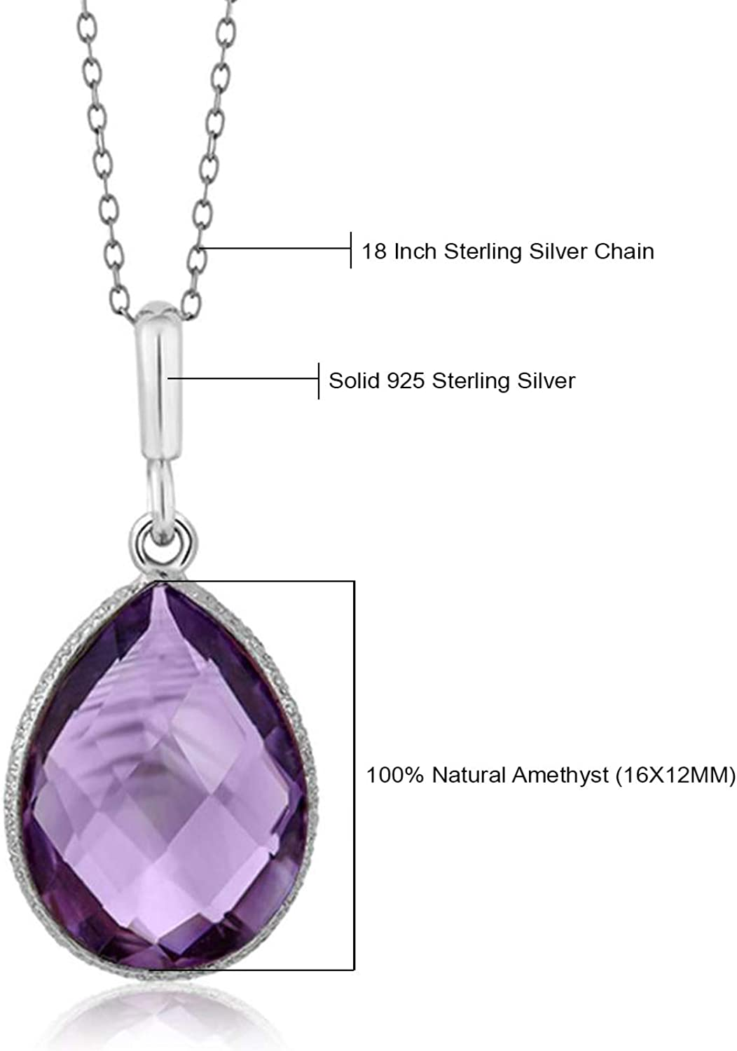 Sterling Silver Amethyst  Poison Locket   Pendant with 24 inch Sterling Silver chain