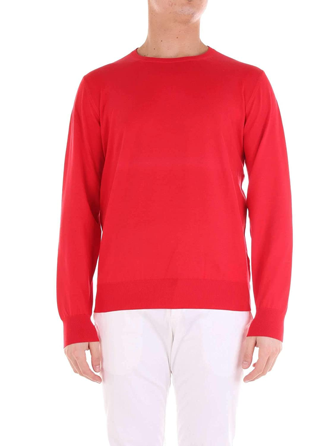 Cruciani Mens CU3235163 Red Wool Sweater