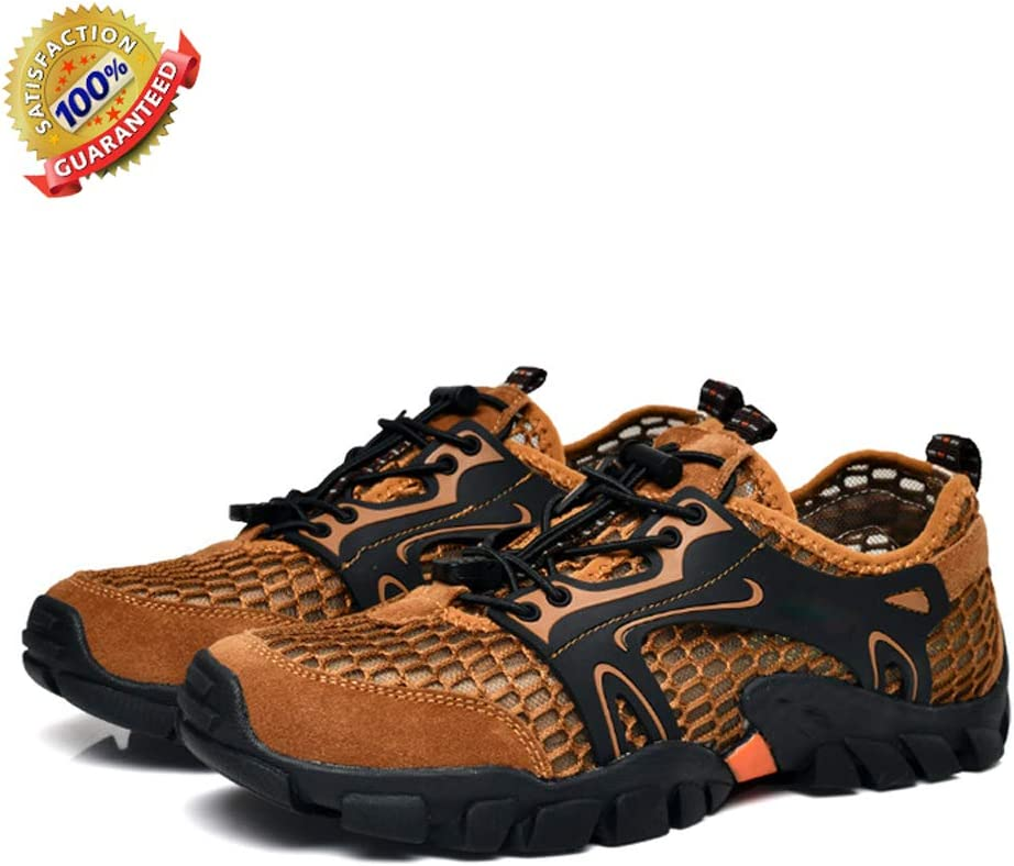 SELCNG Hiking Shoes mesh Breathable Outdoor Hiking shoes-brown-39