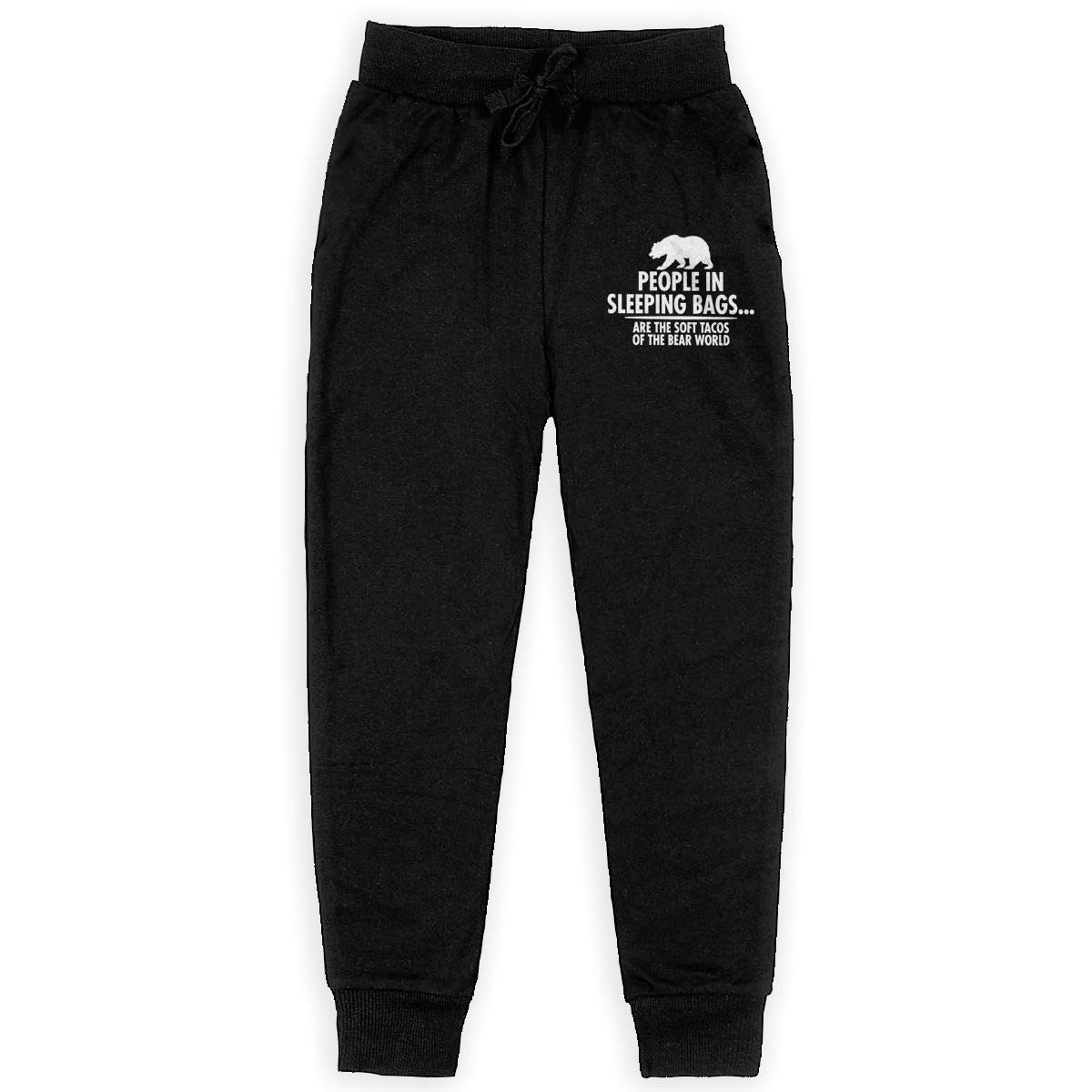 Kim Mittelstaedt People in Sleeping Bags are The Soft Tacos Boys Big Active Basic Casual Pants Sweatpants for Boys Black