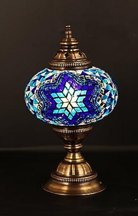 Lámpara de mesa, lámparas de mosaico árabe, marroquí farol ...