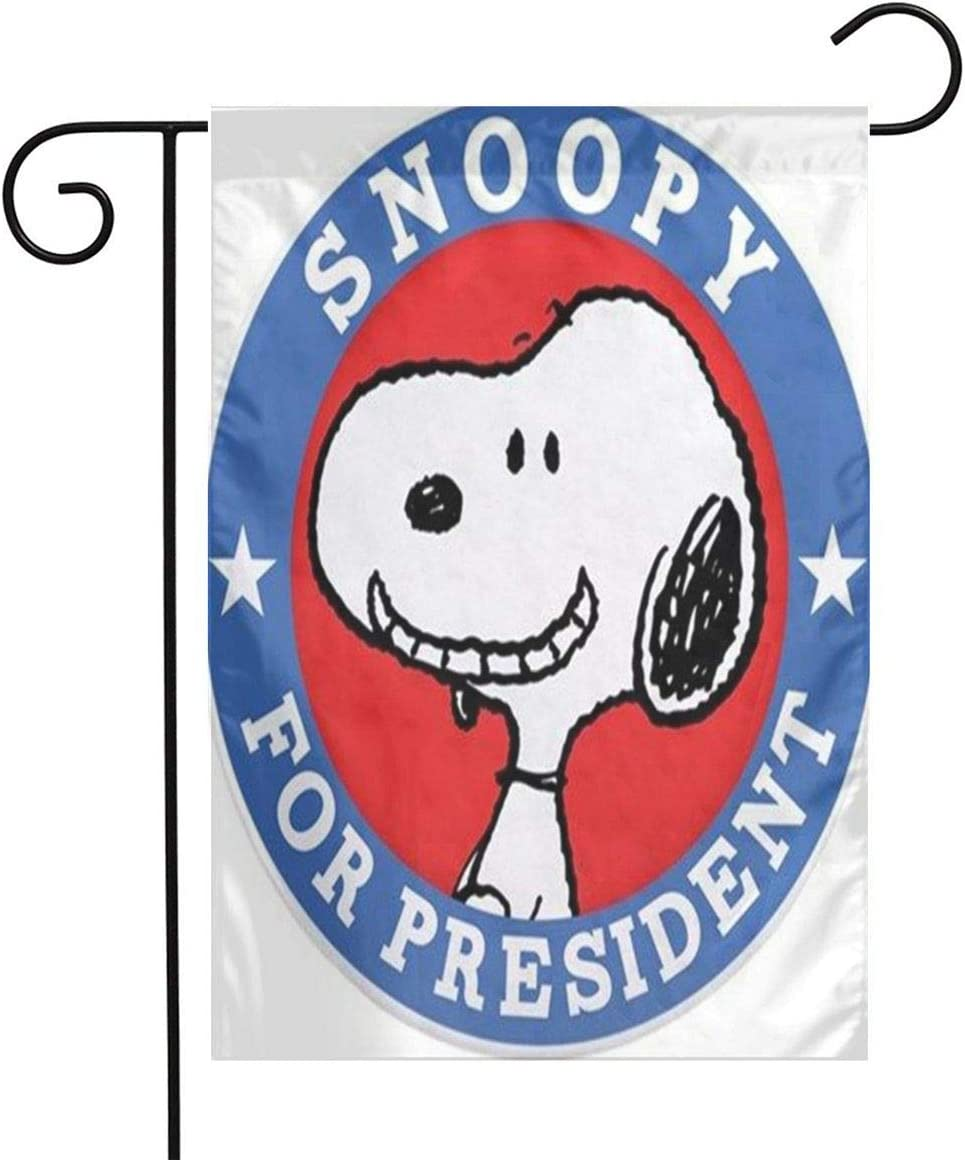 LoV Snoopy President Day Garden Flag Home Outdoor/Indoor Yard Flag 12 X 18 Inch