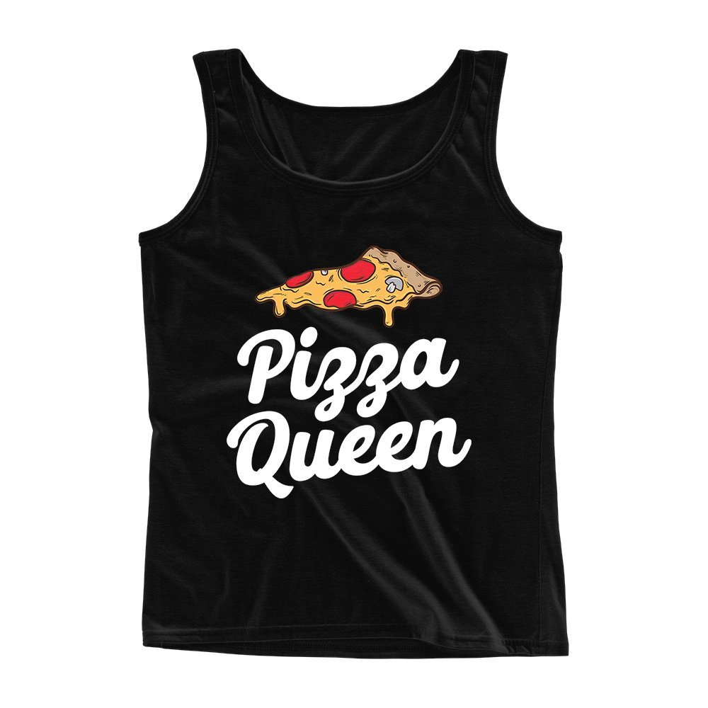Mad Over Shirts Pizza Queen Unisex Premium Tank top