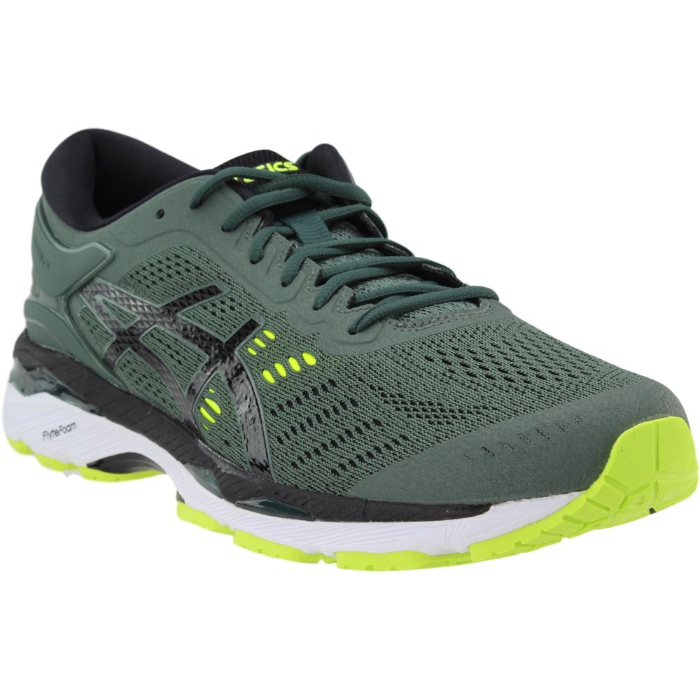 ASICS Men's Gel-Kayano¿ 24 Dark Forest/Black/Safety Yellow 6 D US by ASICS (Image #1)