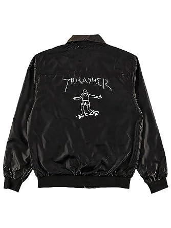 71f010347936 Thrasher Skate Mag Gonz Reversible Coach Jacket (Black   Camo) at Amazon  Men s Clothing store