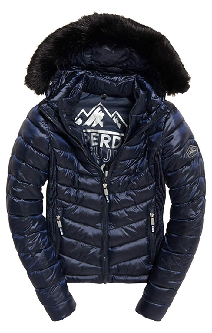 Superdry Hooded Luxe Chevron Fuji Jacket at Amazon Mens ...