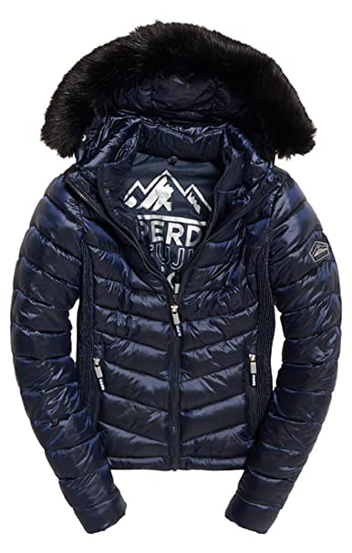 Superdry Hooded Luxe Chevron Fuji Chaqueta Deportiva para Mujer