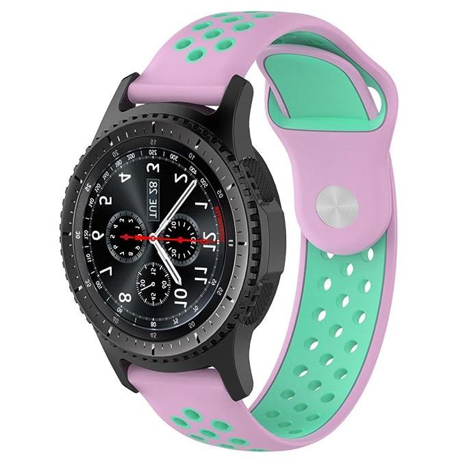 Correa de reloj de silicona de 23 cm para Samsung Gear S3 ...