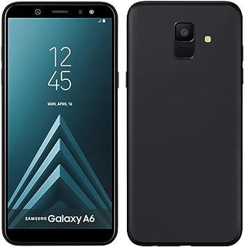 TBOC® Funda de Gel TPU Negra para Samsung Galaxy A6 (2018) A600F ...
