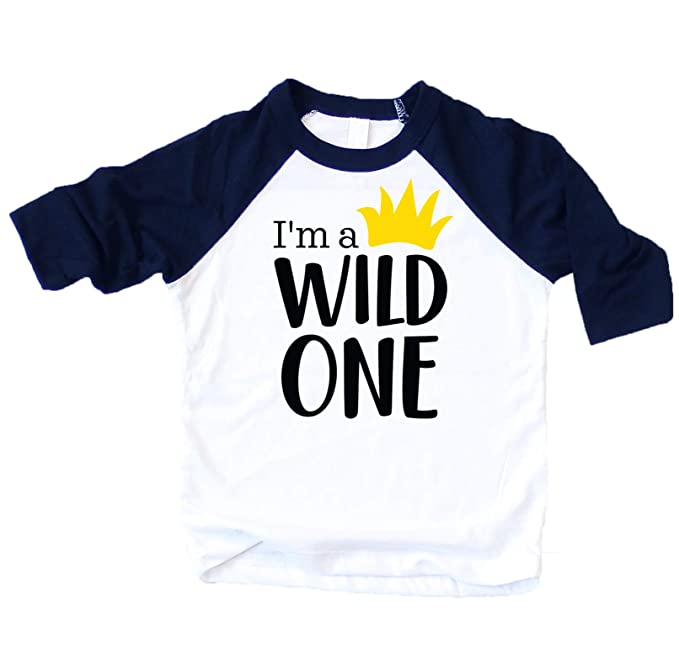 467e53519 Amazon.com: Wild One Boys 1st Birthday Outfit 1st Birthday Shirt Boys T  Shirt: Clothing