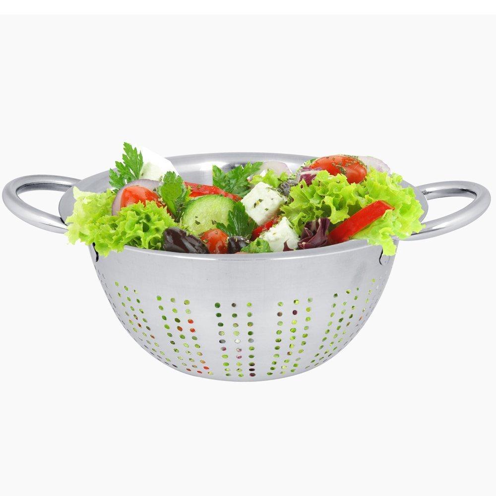 dimensioni Insalata di pasta alimentare frutta succhieruola 20 cm Kosma in Acciaio Inox scolapasta profonde in una finitura opaca