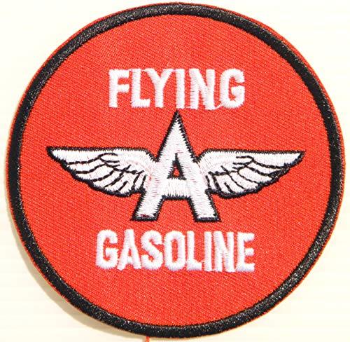 Gasoline Vintage Sign - A Flying Gasoline Motor Oil Gas Vintage Tin Sign Logo Racing Patch Iron on Applique Embroidered T Shirt Jacket Costume