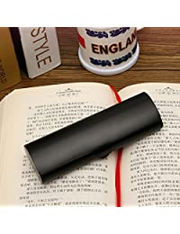 UNAKIM--Matte Slim Hard Metal Glasses Protection Reading Eyeglasses Case Spectacles Box (black)