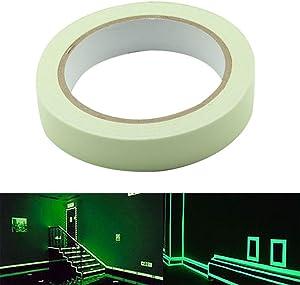 Bande Fluorescente – Delaman Glow In The Dark Tape Autocollant Stickers Phosphorescent Removeble Sans Résidu Waterproof (Size : 15mm*3m)