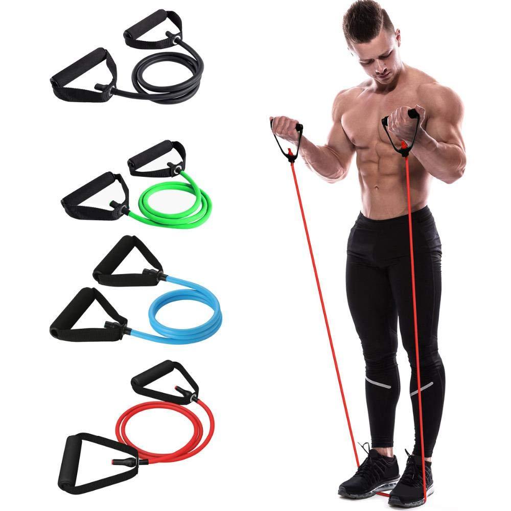 DZTLL Widerstandsband Gummi F/ür Fitness-Gummi Elastic Pull Rope Yoga Resistance Bands Muskel Bodybuilding Stretch Exercise Tubes Fitness Gummi