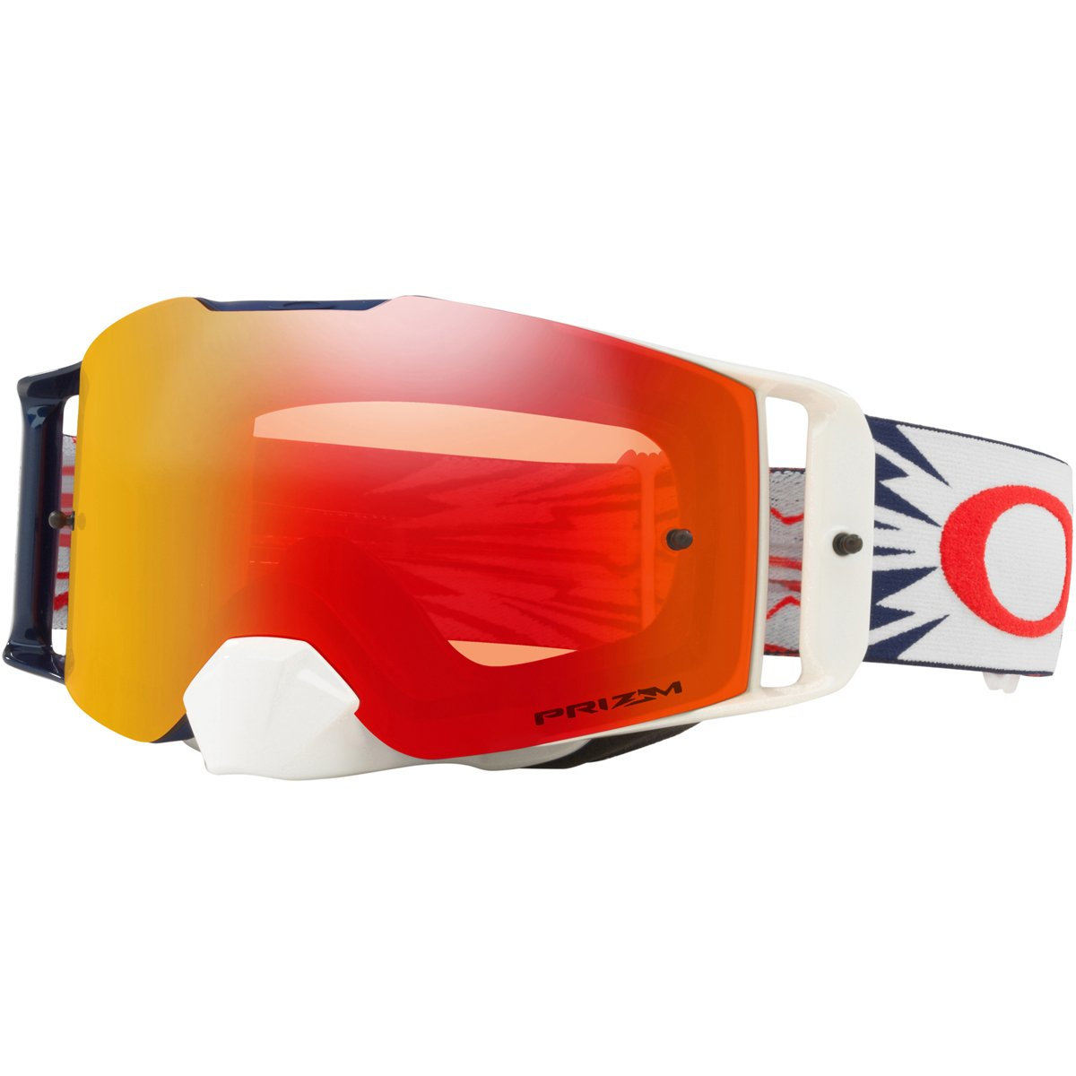 Oakley FL MX HighVoltage RedNavy with PrzmMXTorch unisex-adult Goggles (Yellow, Large), 1 Pack