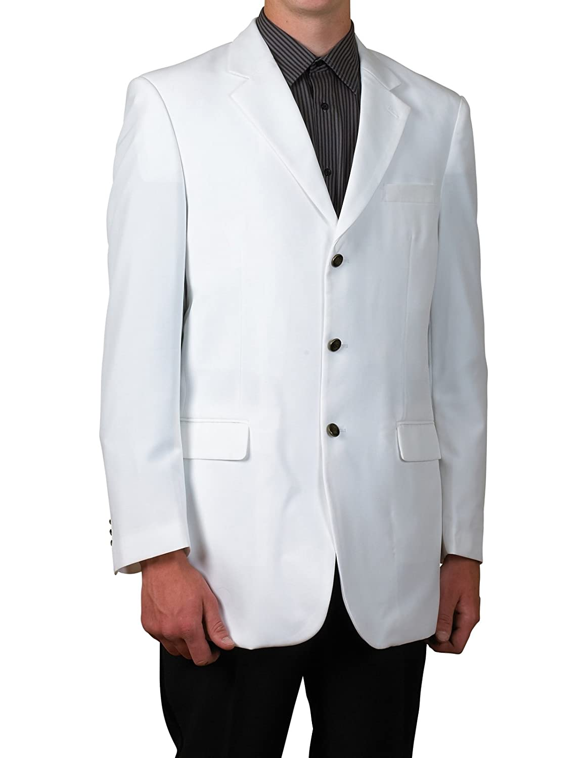 New Mens 3 Button Single Breasted White Blazer Sportcoat Suit ...
