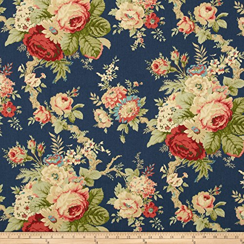 WAVERLY Sanctuary Rose Fabric, Heritage ()