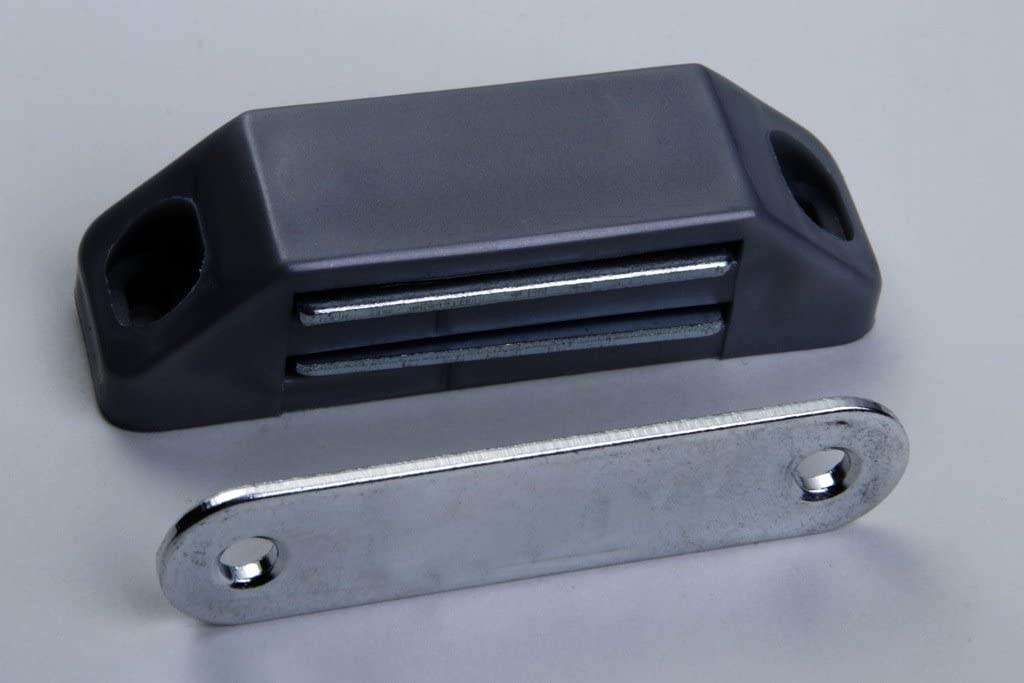 loqueteau magn/étique pour armoire meuble noir avec m/étal contreplaque