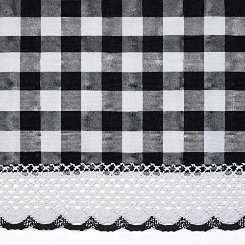 Buy plaid curtain valances