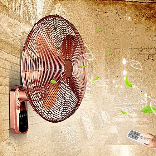 Koovin Household Wall Fan-Classic Retro Wall Mount Fan,Mute/Remote Control,3 Speed/Energy-Saving/Rotating
