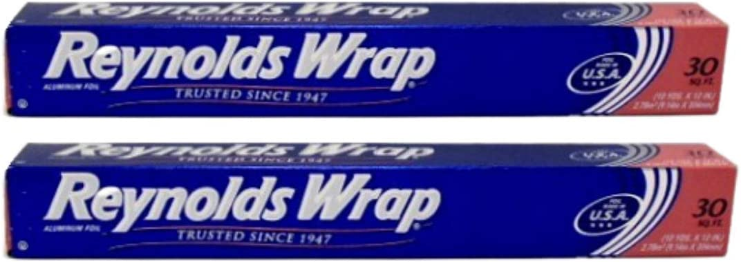 Reynolds Wrap Aluminum Foil - 60 sq ft (2 Pack - 30 sq ft Each)