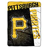 The Northwest Company MLB Pittsburgh Pirates Strike Raschel Blanket, 60-Inch by 80-Inch