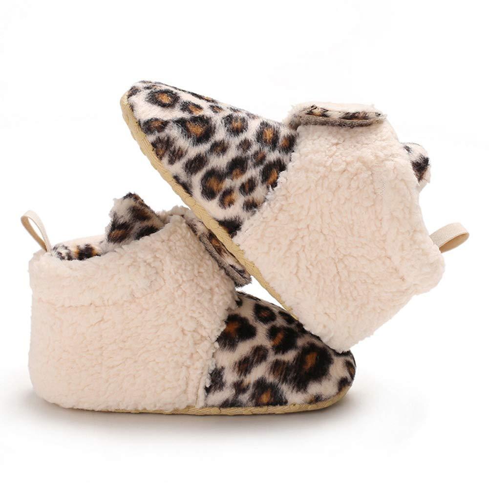 Alamana Stylish Magic Tape Baby Infant Soft Sole Warm Anti-Slip Prewalker Toddler Shoes Coffee 13cm